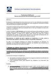 1 Conférence des Notariats de l'Union Européenne - CNUE