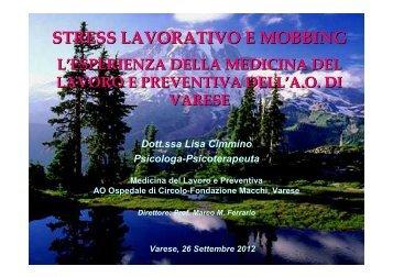 Convegno Lavoro e Benessere-Mobbing-2012 - Ospedale di ...