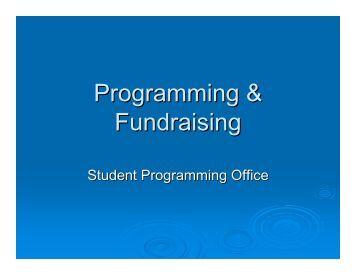 Programming & Fundraising - URI Memorial Student Union