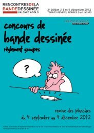 Le reglement groupe - Troisièmes Rencontres de la bande dessinée ...