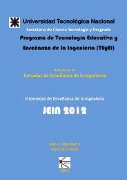 Artículos JEIN 2012 Vol 2 - SICyT - Universidad Tecnológica Nacional