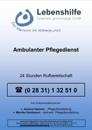 (0 28 31) 1 32 51 0 Bürozeiten - Lebenshilfe Gelderland eV