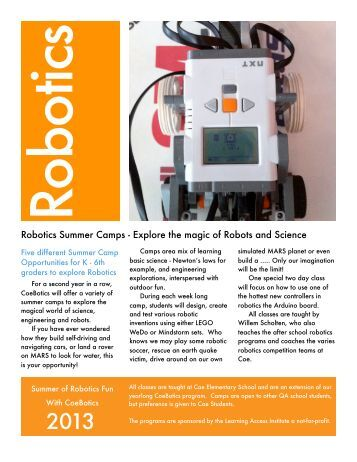 Robotics Summer Camps - Explore the magic of Robots and Science