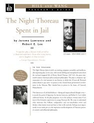 The Night Thoreau Spent in Jail - Macmillan