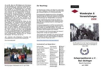 Wanderplan & Veranstaltungen 2009 - beim Schwarzwaldverein ...