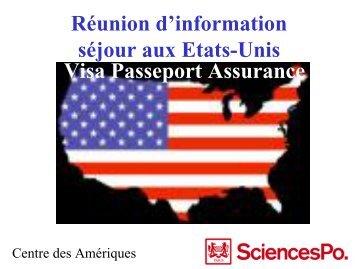 information sur les passeports et visa - Centre des Amériques