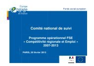 Programmation dynamique - Fonds Social Européen en France