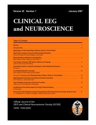 CLINICAL EEG and NEUROSCIENCE - Dynamic Memory Lab