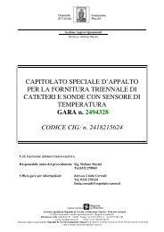 CAPITOLATO SPECIALE D'APPALTO PER LA FORNITURA ...