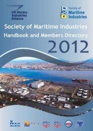 SMI Handbook 2012.qxd - Society of Maritime Industries