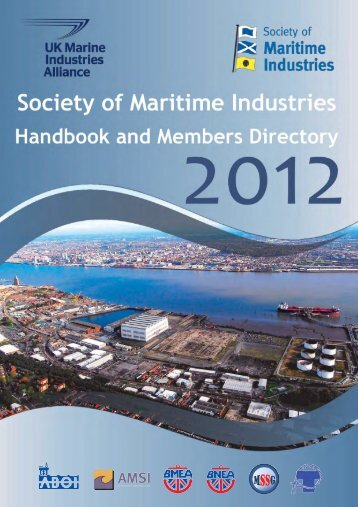 SMI Handbook 2012.qxd - Society of Maritime Industries
