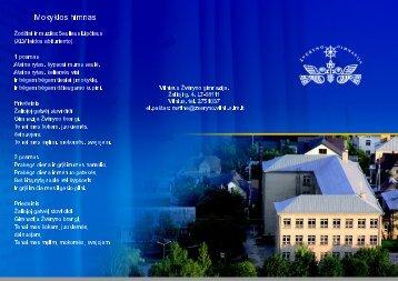 Mokyklos himnas - Vilniaus Žvėryno gimnazija