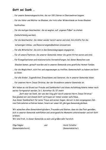 Gott sei Dank … - EFG Kassel-Oberzwehren