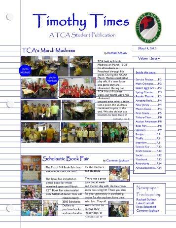 Timothy Times (Jun 2012) - Timothy Christian Academy