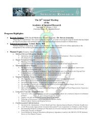 The 26 Annual Meeting of the Academy of Surgical Research ...