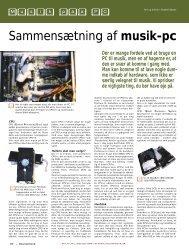 Sammensætning af musik-pc - Soundcheck