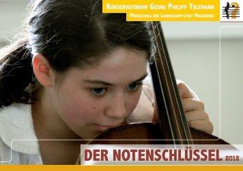 Versüßt die Freizeit! - Konservatorium Georg Philipp Telemann