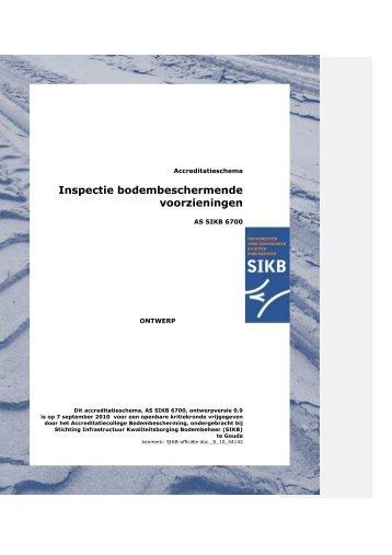 Inspectie bodembeschermende voorzieningen - SIKB
