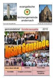 Die Visitenkarte unserer Gemeinde - Evangelische Kirche Andernach