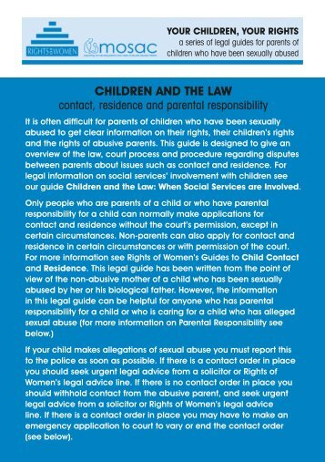 CHILDREN AND THE LAW - Rights of Women