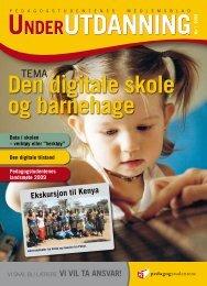 Under Utdanning 1/2009 - Pedagogstudentene