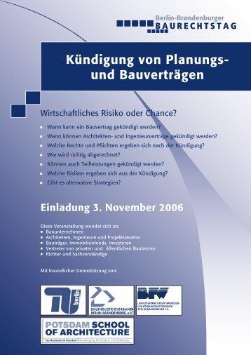 Einladung herunterladen - Berlin-Brandenburger Baurechtstag