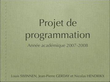 Année académique 2007-2008 - Louis SWINNEN