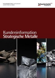 Kundeninformation Strategische Metalle