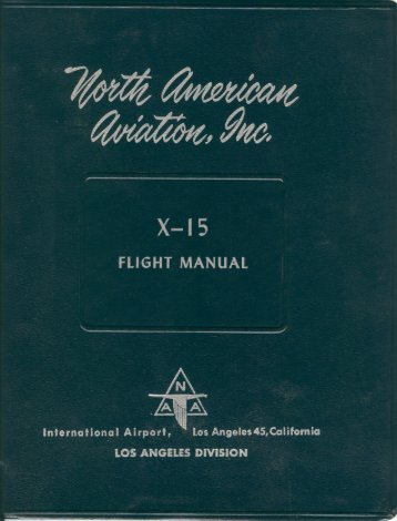 X-15 Flight Manual