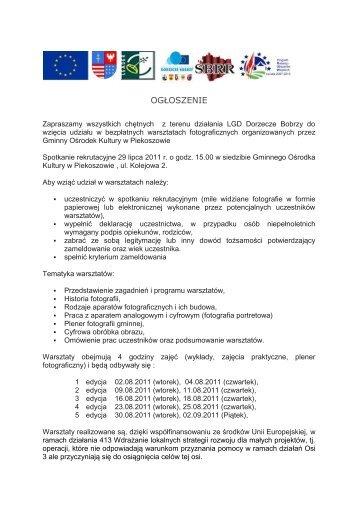 deklaracja uczestnictwa