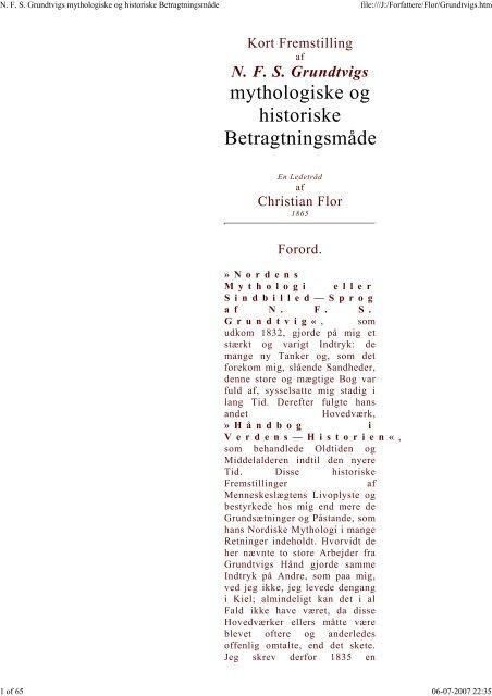 N. F. S. Grundtvigs mythologiske og historiske ... - herthoni.dk