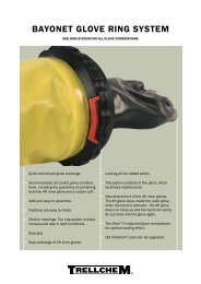 Trellchem® Bayonet Glove Ring System - Ansell Protective Solutions