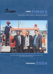 Highlights 2004 - Lesotho National Development Corporation