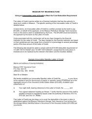 Sample Irrevocable Standby Letter of Credit - Missouri Petroleum ...