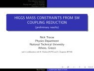 HIGGS MASS CONSTRAINTS FROM SM COUPLING REDUCTION ...