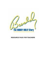 RESOURCE PACK FOR TEACHERS - La Mirada Theatre for the ...