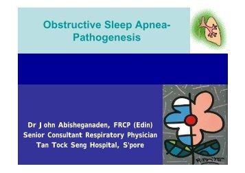 Obstructive Sleep Apnea- Pathogenesis - MAPTB