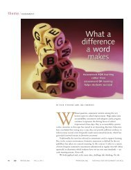What a Difference a Word Makes - Assessment Training Institute