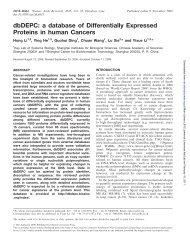 dbDEPC: a database of Differentially Expressed Proteins in human ...