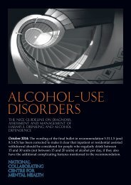 Alcohol use disorders - National Collaborating Centre for Mental ...