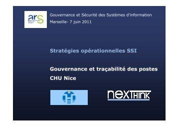 Gouvernance et traçabilité des SI, retour d'expérience ... - ARS Paca
