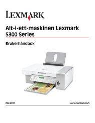 Brukerhåndbok - Lexmark