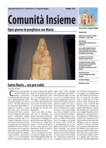 Ogni giorno in preghiera con Maria Santa Maria... ora pro nobis