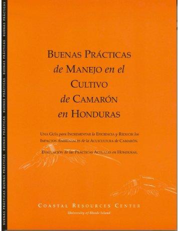 Buenas Prácticas de Manejo en el Cultivo de Camarón en Honduras