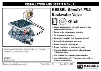 KESSEL-Staufix® SWA Backwater Valve