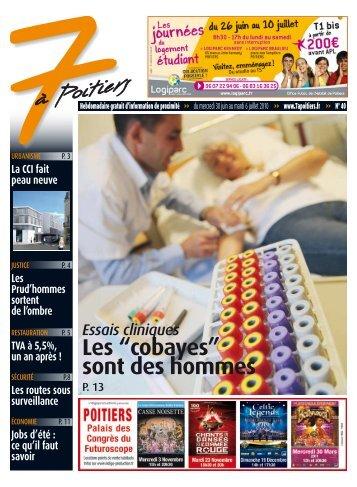 n° 40 voir ce numéro - 7 à Poitiers