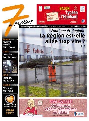 n° 65 voir ce numéro - 7 à Poitiers
