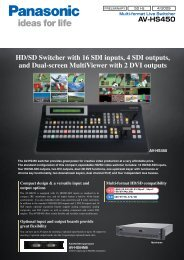 HD/SD Switcher with 16 SDI inputs, 4 SDI outputs, and ... - Pro Video