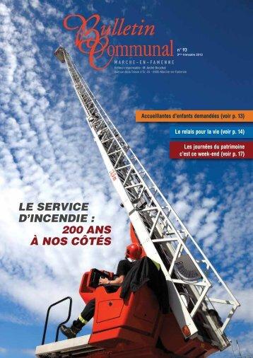 LE SERVICE D'INCENDIE - Marche-en-Famenne