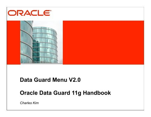Data ebook 11g handbook download guard oracle